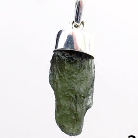 Moldavite Pendant Sterling Silver Natural Moldavite | New Earth Gifts