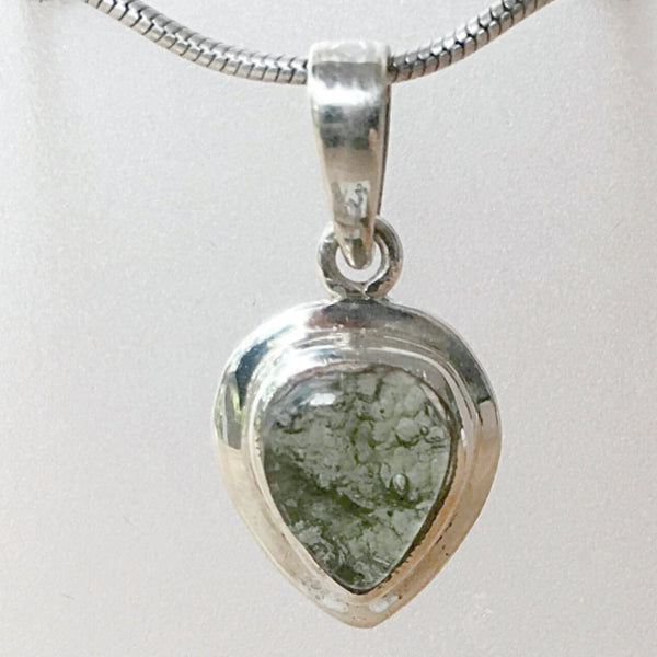 Moldavite Sterling Silver Tear Drop Pendant | New Earth Gifts