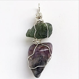 Moldavite Super Seven Mixed Stone Pendant - New Earth Gifts