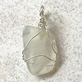 Genuine White Moonstone Pendant Sterling Silver For Sale New Earth Gifts