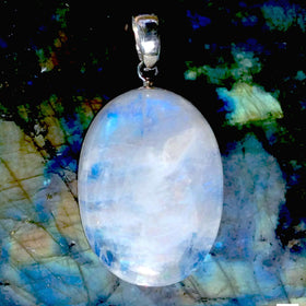 Rainbow Moonstone Sterling Pendant - New Earth Gifts