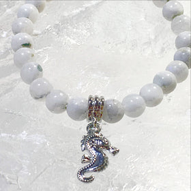 Moonstone Bracelet with Sea Horse Charm - New Earth Gifts