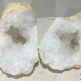 Quartz Large Geode Split Pair | New Earth Gifts