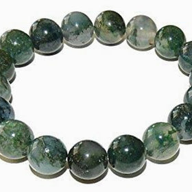 Moss Agate Power Bracelet for New Beginnings-8mm - New Earth Gifts