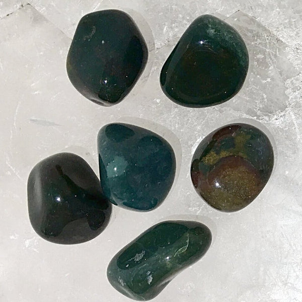 Moss Agate Tumbled Stone 1 Pc - New Earth Gifts