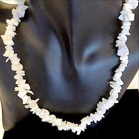 Mother of Pearl Chip Necklace with Free Matching Bracelet - New Earth Gifts