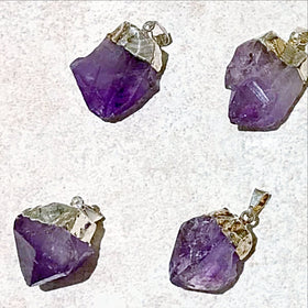 Amethyst Natural Point Pendants - New Earth Gifts and Beads