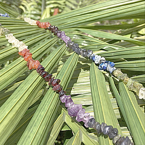 Chakra Necklace 36 Inches with Free Chakra Bracelet - New Earth Gifts