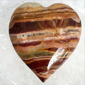 Banded Onyx 65mm Heart -  New Earth Gifts and Beads