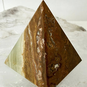 Onyx Multi Green Pyramids - New Earth Gifts