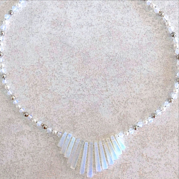 Opalite and Sterling Silver Necklace - New Earth Gifts