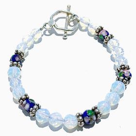 Opalite and Cloisonne Bracelet | New Earth Gifts