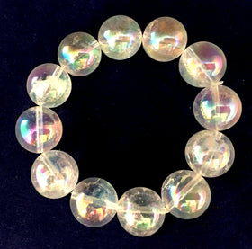 Angel Aura Quartz Bracelet - 16mm Beads - New Earth Gifts