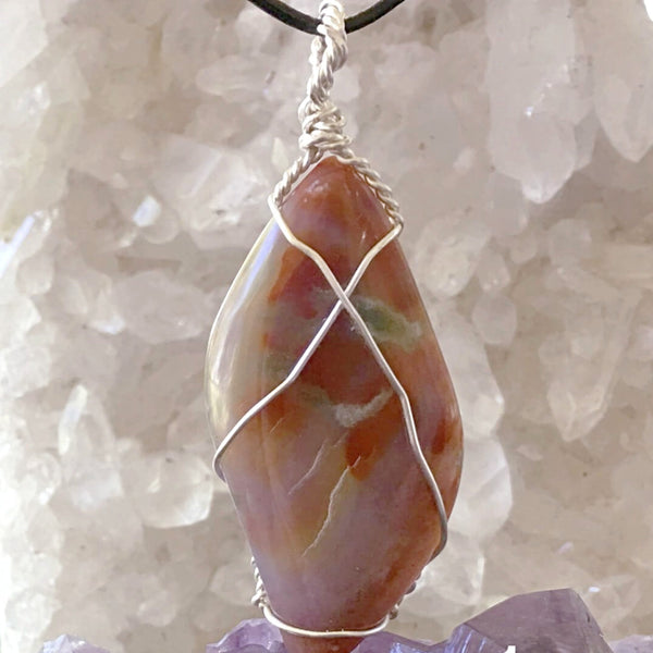Owyhee Jasper Free Form Pendant -New Earth Gifts