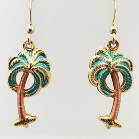 Palm Trees Earrings Great Beachy Jewelry - New Earth Gifts