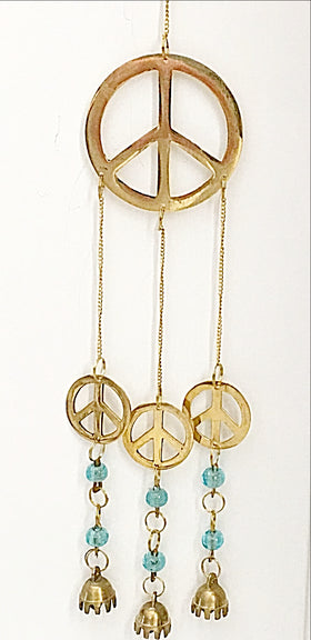 Peace Chime - Brass Wind Chime | New Earth Gifts