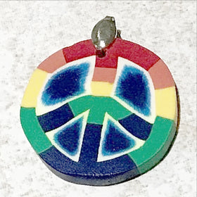 Rainbow Peace Symbol Pendant - New Earth Gifts