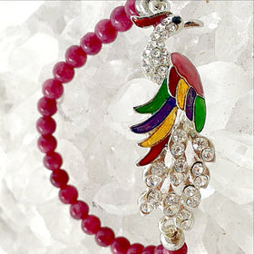 Peacock Beaded Bracelet-New Earth Gifts