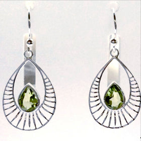 Peridot Sterling Silver Earrings, Sweet Sunrise Style | New Earth Gifts
