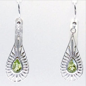 Peridot Sterling Silver Sunny Style Earrings