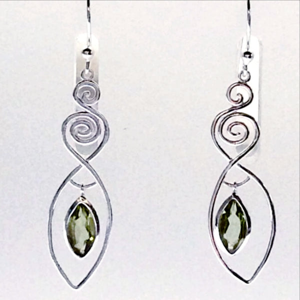 Peridot Sterling Silver Earrings, Show Your Inner Goddess - New Earth Gifts