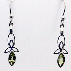 Peridot Faceted Celtic Earrings - New Earth Gifts