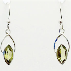 Peridot Faceted Sweet Heart Earrings | New Earth Gifts
