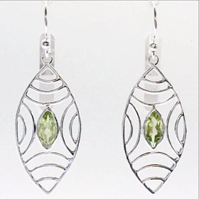Peridot Boho Style Sterling Earrings | New Earth Gifts