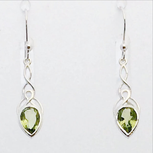 Peridot Faceted Long Drop Earrings | New Earth Gifts