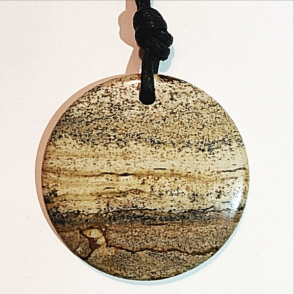 Picture Jasper Large Oval Pendant - New Earth Gifts