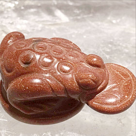 Goldstone Gemstone Prosperity Frog - new earth gifts