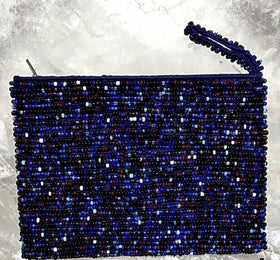 Beaded Coin Purse - Various Shades of Blue - New Earth Gifts