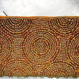 Beaded Coin Purse - Gold Circles - New Earth Gifts