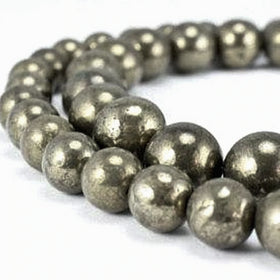 Pyrite Power Bracelet for Confidence and Positive Thinking-6mm - New Earth Gifts