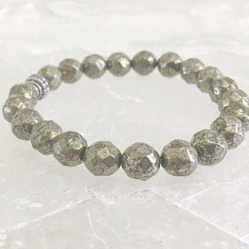Pyrite Faceted Power Bracelet - New Earth Gifts