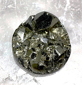 Pyrite Natural Cabochon Round - New Earth Gifts
