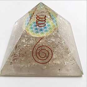 Orgonite Pyramid with Quartz and Copper - New Earth Gifts