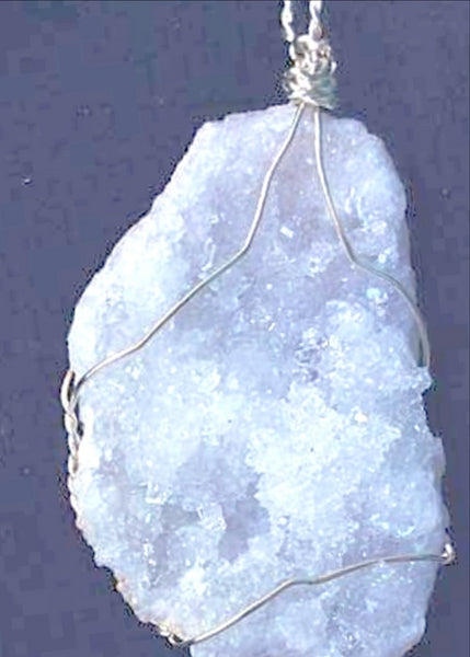 Quartz Geode Pendant - Drusy Geode For Sale New Earth Gifts