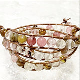 Beaded 3 Wrap Bracelet Mixed Quartz - New Earth Gifts