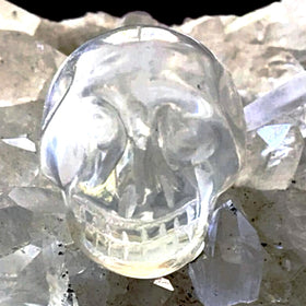 Quartz Gemstone Skulls 25mm - New Earth Gifts