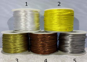 Rattail 2mm Satin Cord Limited Inventory | New Earth Gifts