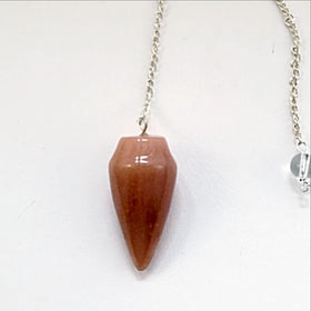 Red Aventurine Cone Pendulum - New Earth Gifts