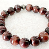Red Tiger Eye -10mm Power Bracelet for Courage and Will Power- New Earth Gifts