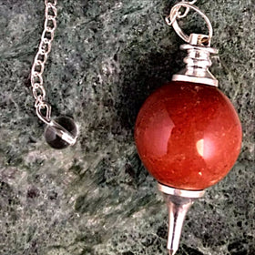 Red Jasper Sphere Pendulum - New Earth Gifts