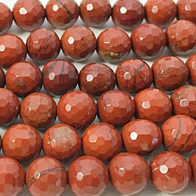 Red Jasper Faceted 8mm Beads - New Earth Gifts