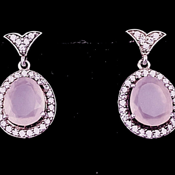 Rose Quartz Fashion Earrings | New Earth Gifts