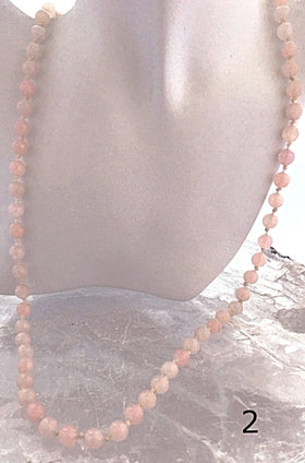 Rose Quartz Hand Knotted Long Necklace - New Earth Gifts