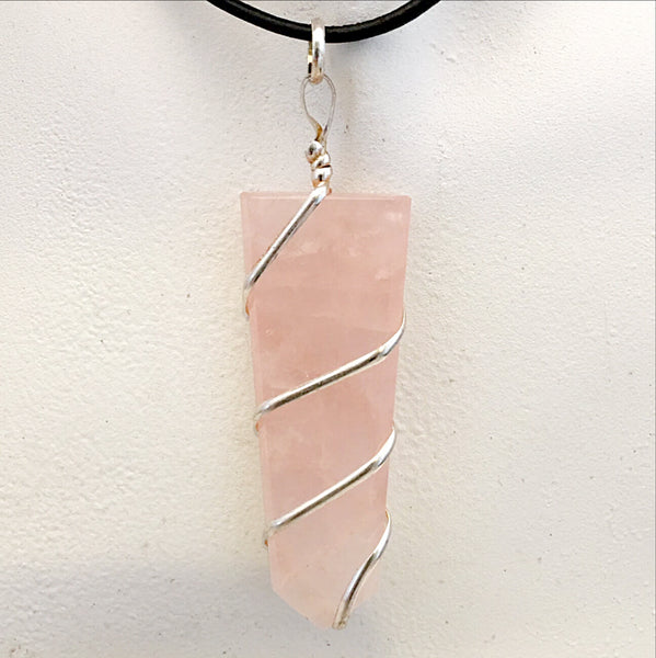 Rose Quartz Pendant - new earth gifts
