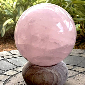 Rose Quartz 100mm Sphere - New Earth Gifts