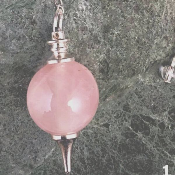 Rose Quartz Sphere Pendulum - New Earth Gifts